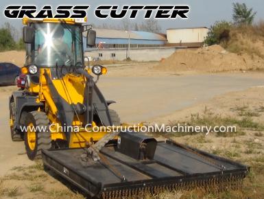 wheel loader grass cutter
