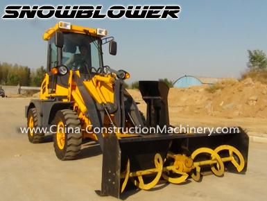 wheel loader snow blower