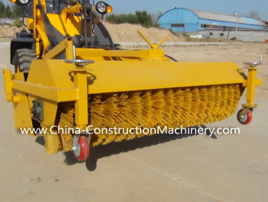 china wheel loader sweeper